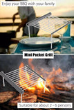 Outdoor Stainless Steel BBQ Compact Folded Mini