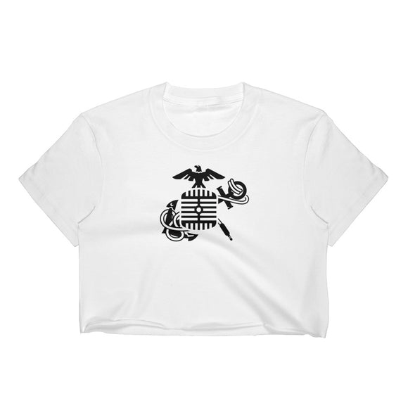 Eagle Microphone and Anchor - Women's Crop Top