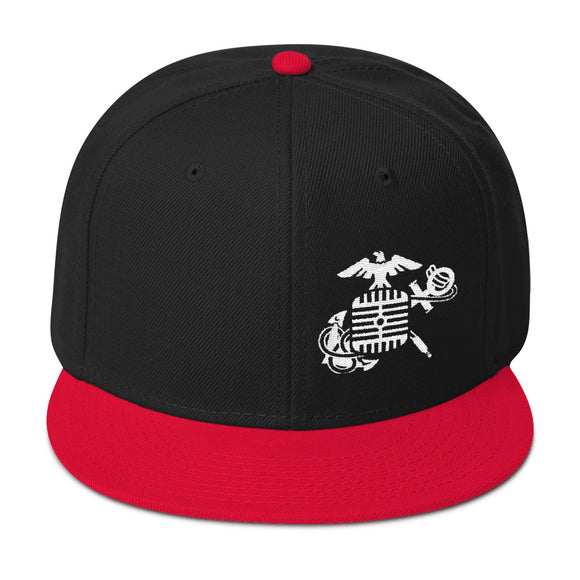 Eagle, Mic, and Anchor Snapback Hat