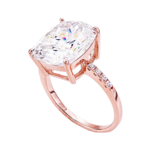 18 KGP Rose Gold 4 Carat Floating Ring