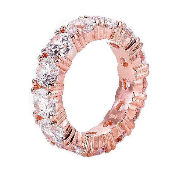 18 KGP Rose Gold 5mm Round Eternity Ring Band