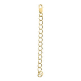 18 KGP Cable Chain Necklace Extension, 2.5