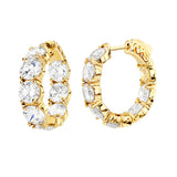 18 KGP Small Large Stone Couture Hoops