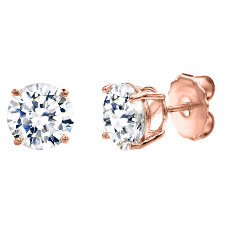 18 KGP Rose Gold Clear Regal Teardrops