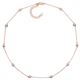 18 KGP Rose Gold Regal Short Floating Necklace 18''
