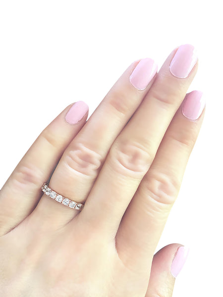 18 KGP Rose Gold 2.75mm Thin Round Eternity Band