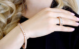 18 KGP Rose Gold Asscher Cut Bracelet with Double Security Clasp