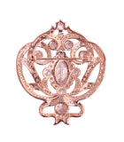 18 KGP Rose Gold Ornate Regal Brooch