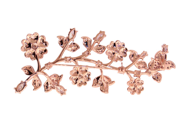 18 KGP Rose Gold Small Flowers Brooch