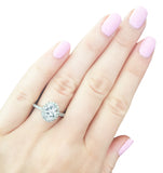 Sterling Silver 2.5 Carat Oval Ring