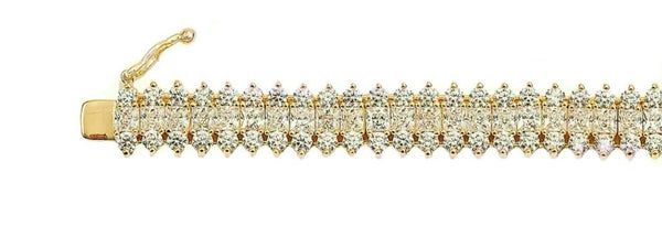 18 KGP St. Croix Tennis Bracelet with Double Security Lock