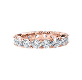 18 KGP Rose Gold 4mm Round Eternity Ring Band
