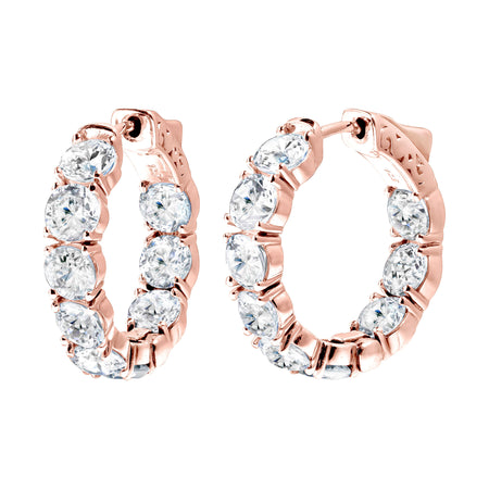 18 KGP Rose Gold 2.5 Carat 4 Prong Studs