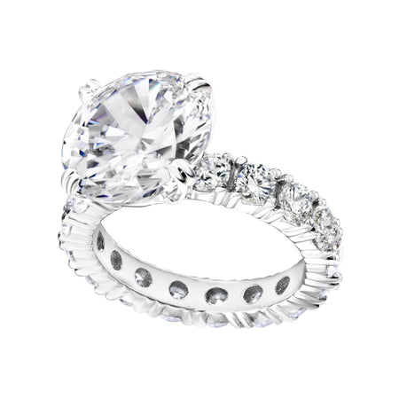 18 KGP 2.5 Carat Oval Ring