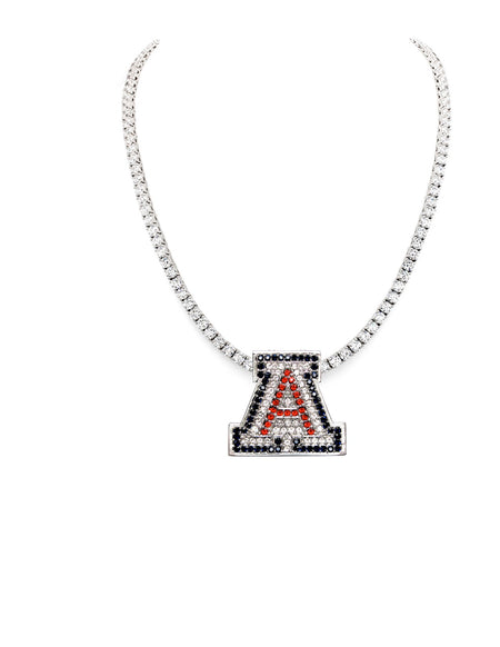 "Sterling Silver Couture ""A"" Pendant Necklace"