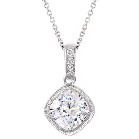 18 KGP 4 Carat Pear-Shaped Necklace