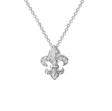 Sterling Silver Royal Fleur de Lis Necklace