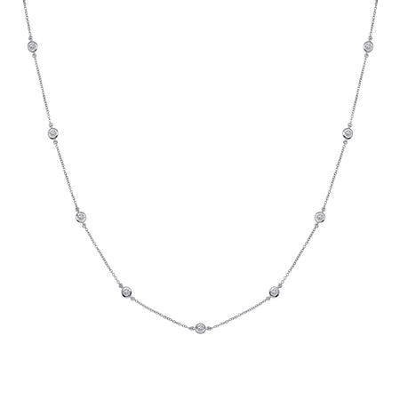 Sterling Silver 4 Carat Clear Pear Shaped Necklace