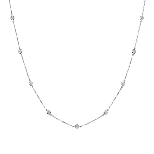 Sterling Silver Regal Short Floating Necklace 18""