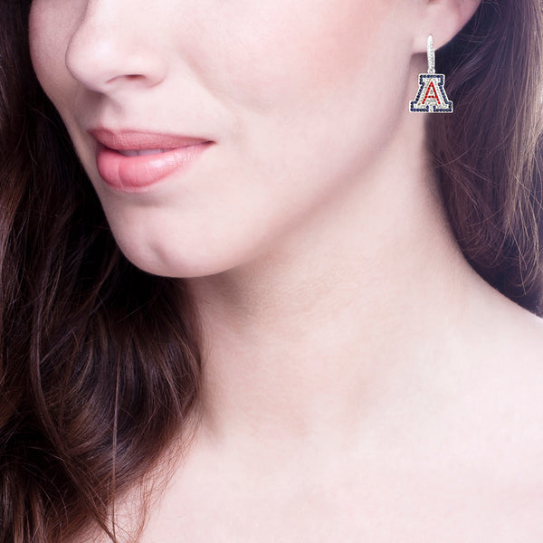 "Silver Couture ""A"" Earrings with Lever back"