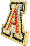 18 KGP University of Arizona Couture Swarovski Crystal Pin