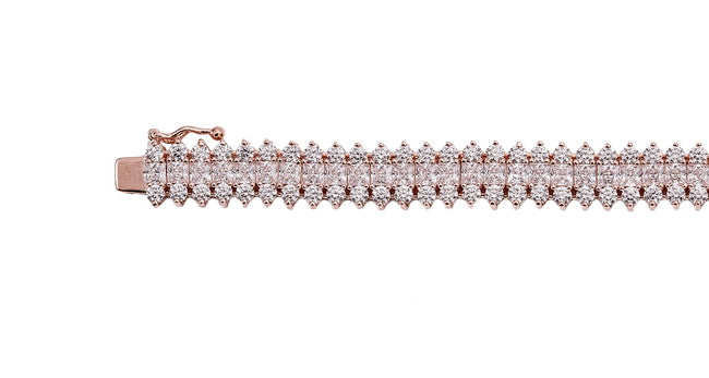 18 KGP Rose Gold St. Croix Tennis Bracelet with Double Security Clasp
