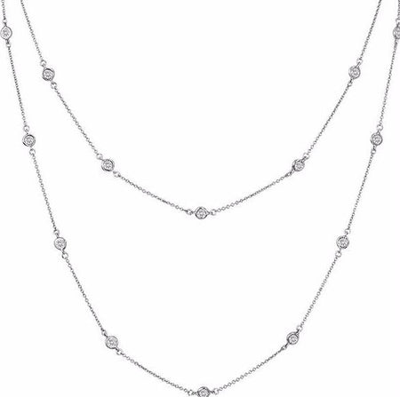 Silver Blue Topaz Necklace with 18 KGP Prongs