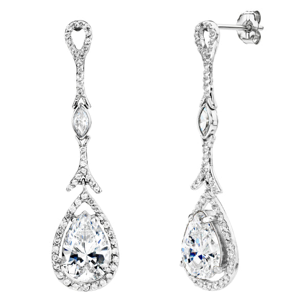 Sterling Silver Couture Long Teardrops