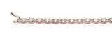 18 KGP Rose Gold Brilliant/Princess Tennis Bracelet with Double Security Clasp