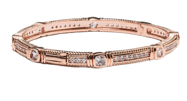 18 KGP Rose Gold Rachel Bangle