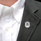 Silver Greek 100th Anniversary UA Couture Pin with 4 Swarovski Crystals and Silver Ball Detailing