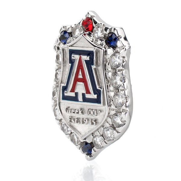 Silver Greek 100th Anniversary UA Couture Pin with All Swarovski Crystals