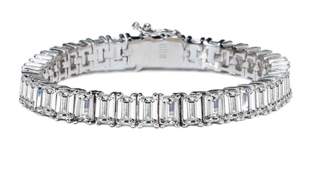 18 KGP Estate Emerald Cut Bracelet with Double Security Clasp