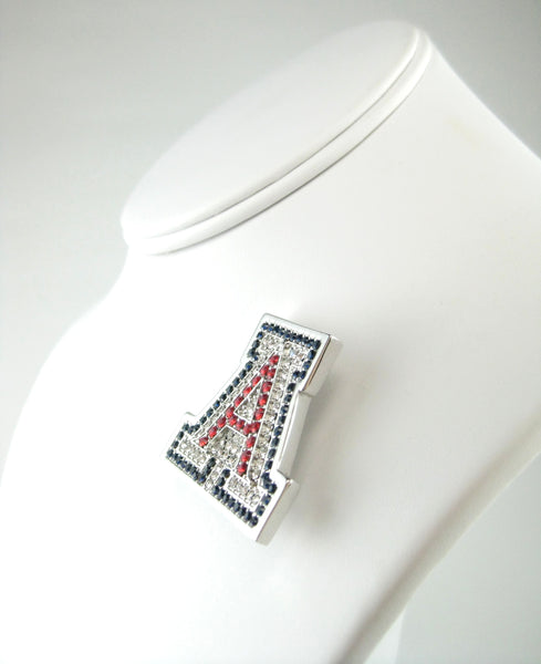 Silver University of Arizona Couture Swarovski Crystal Pin