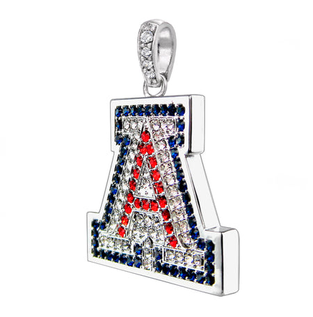 "Silver Couture University of Arizona ""A"" Charm and Tennis Bracelet, Sold Together"