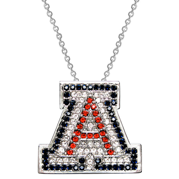 "Sterling Silver Couture ""A"" Pendant Necklace (Includes Sterling Necklace Chain)"
