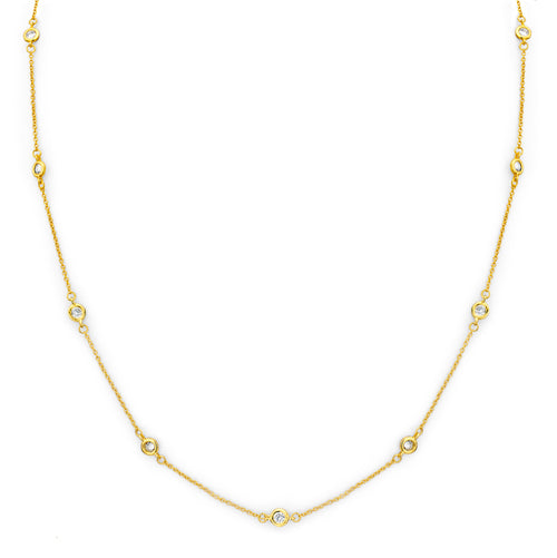 18 KGP Regal Short Floating Necklace 18""
