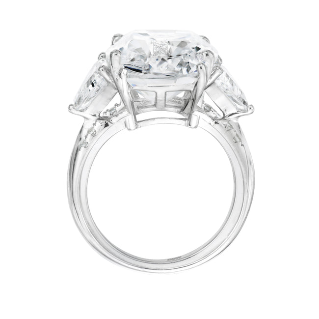 Sterling Silver 4.5 Carat Cushion/Trapeze Ring