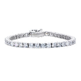 Silver 4mm Classic Tennis Bracelet with Double Security Clasp