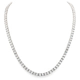 Silver Classic Tennis Necklace with Double Security Clasp 16.5
