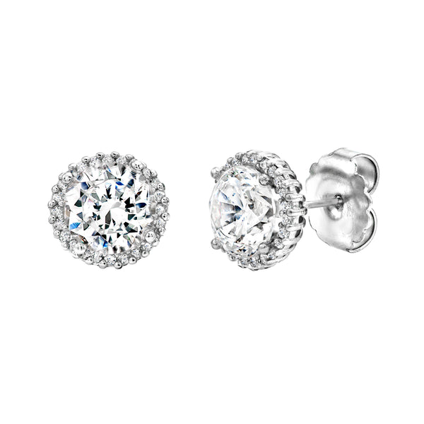 Silver 1.5 Carat Small Hollywood Studs