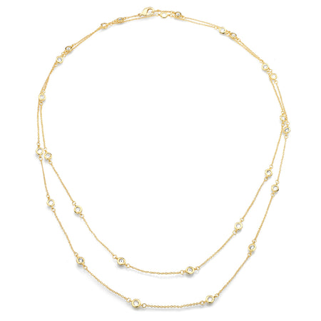 Sterling Silver 2 Carat NoHo Necklace