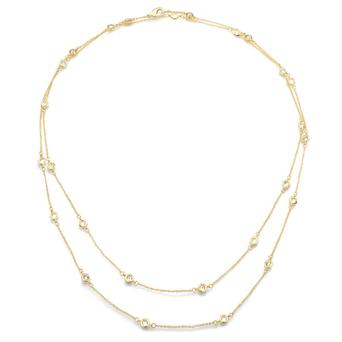 18 KGP 54 Inch 6-in-1 Necklace