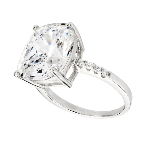 Sterling Silver 4 Carat Floating Ring