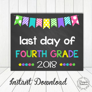 Fourth Grade Last Day of School Sign