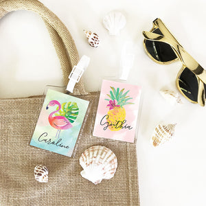Tropical Beach Luggage Tags (Set of 4)