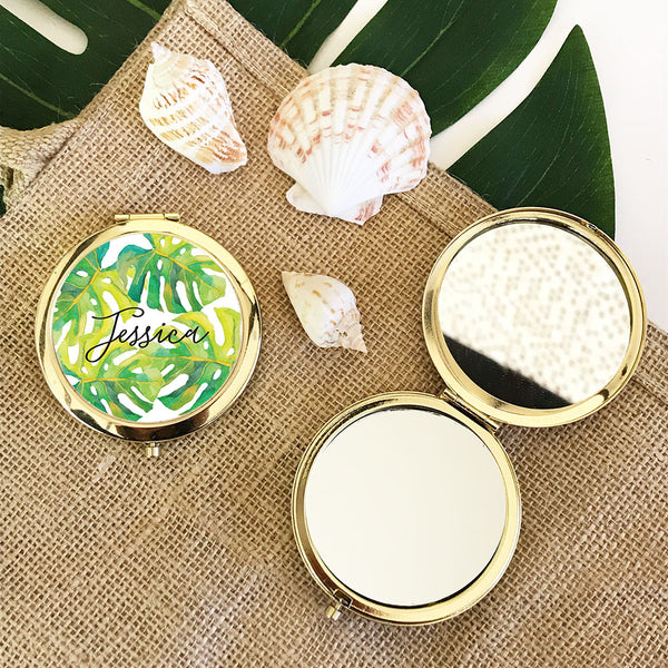 Tropical Beach Compact Mirror