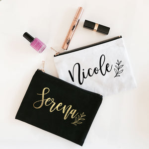 Personalized Canvas Cosmetic Bag