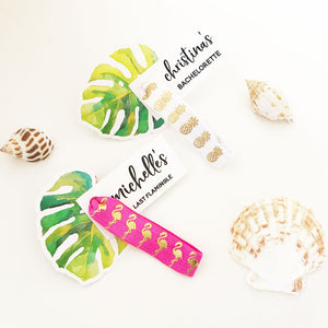 Tropical Beach Hair Ties (Set of 6)