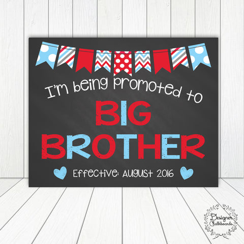 Big Brother Pregnancy Announcement Chalkboard Sign